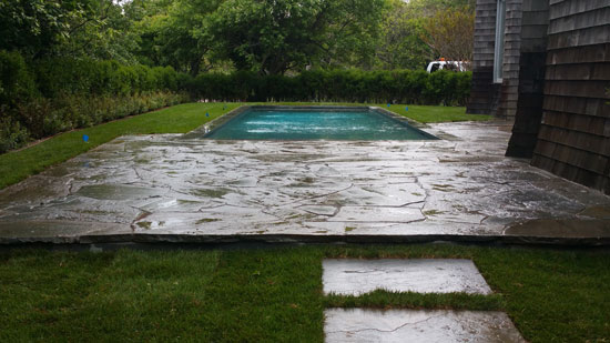 Hamptons Masonry Design Flagstone Pool Patio