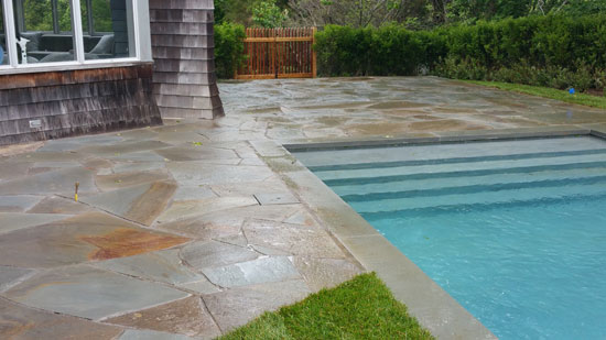 hamptons masonry flagstone pool patio design